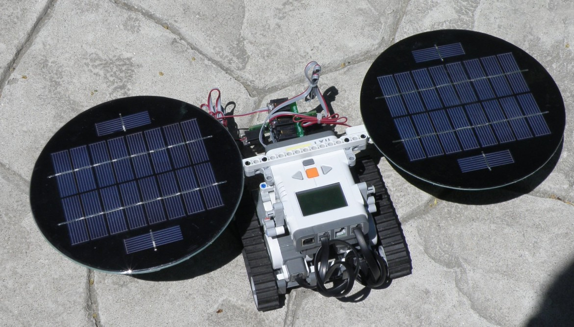 Dexter Industries Solar Panels at Work (or rather . . . at play)