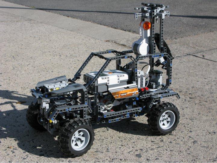 Lego Street View Car on the Street