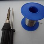 soldering gun and solder