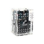 BrickPi+ Clear Acrylic 6-sided case with BrickPi and Raspberry Pi upright