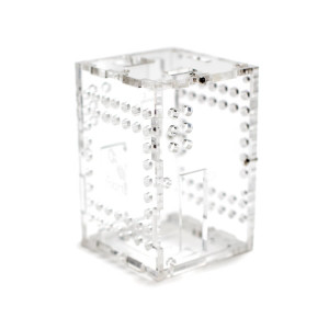 BrickPi+ Clear Acrylic case standing left