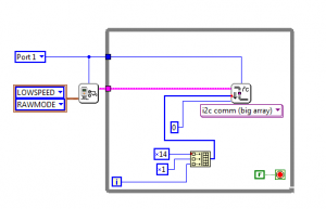 Labview for LEGO MINDSTORMS simply sending Arduino I2C Data