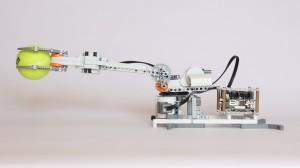 Raspberry Pi Robot holding a tennis ball