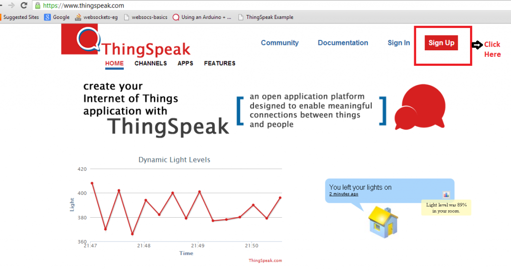 Thingspeak - Step 1 - Highlighted