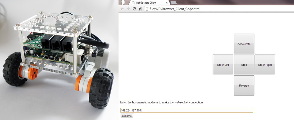 Raspberry Pi Robot Controlled with a Web Page