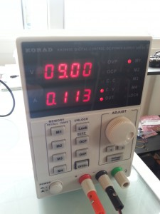 Power Supply Korad we Used to Test EV3 Power Consumption