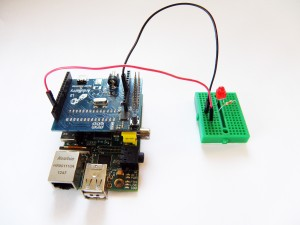 Arduberry and Raspberry Pi Project Blink