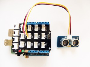 Arduberry Project with Raspberry Pi and Ultrasonic Range Finder