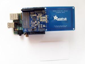 Raspberry Pi and Adafruit Near Field Communication Shield for Arduino