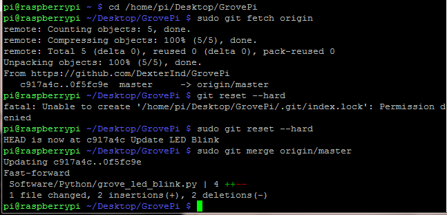 Updating the Github Directory on your Raspberry Pi.