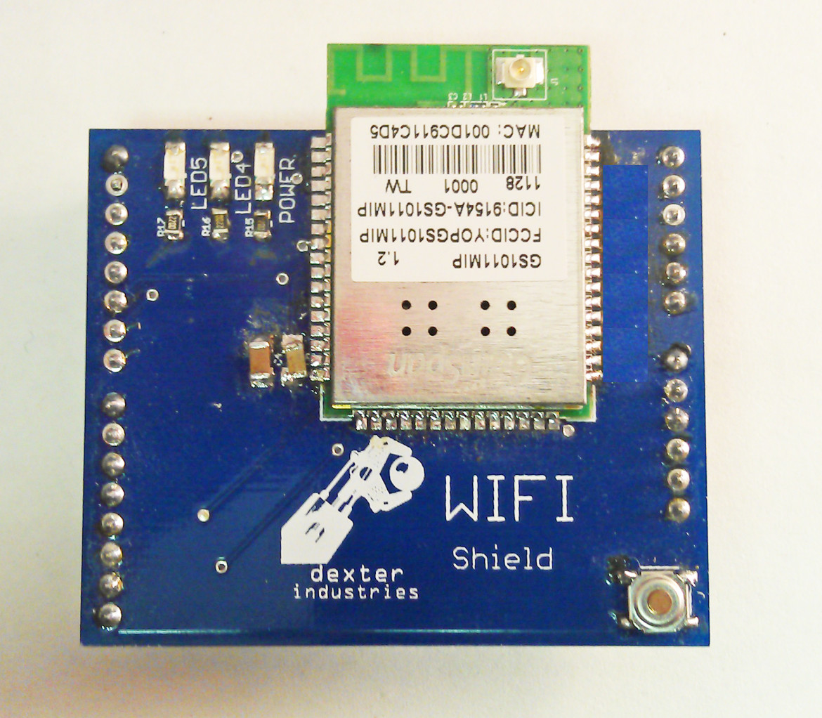 The WIFI Shield for Arduino by Dexter Industries