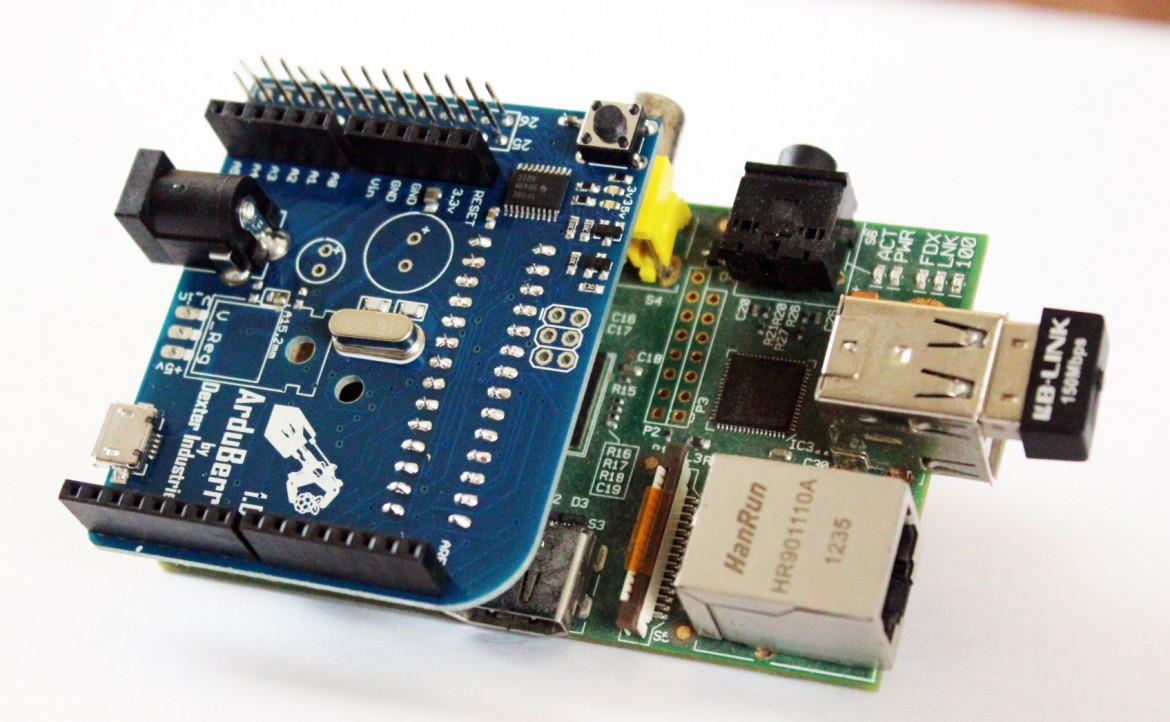 Arduberry for connecting the Arduino and Raspberry Pi