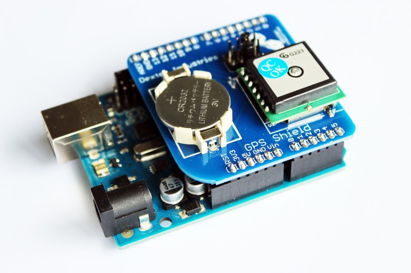 GPS Shield for the Arduino System.