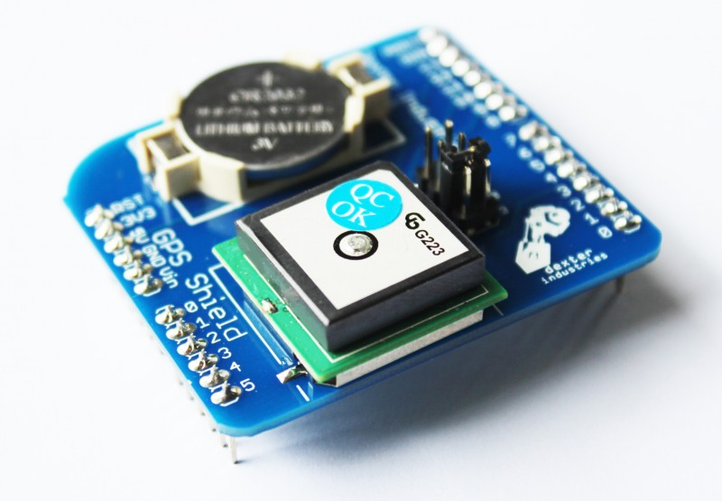 GPS Shield for the Arduino.