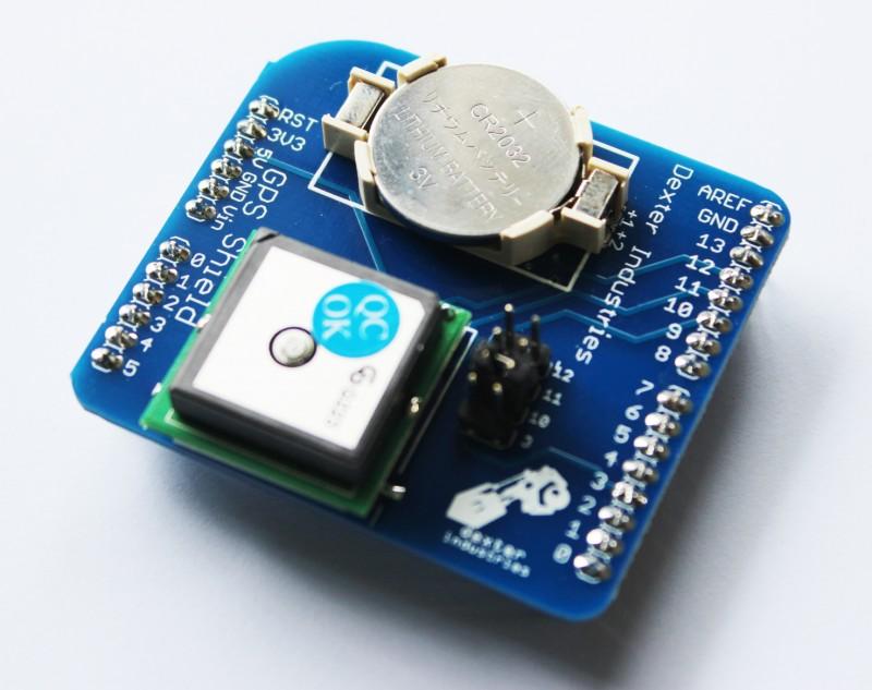 The Arduino GPS Shield.