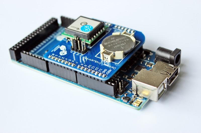 Arduino GPS Shield on the Arduino ADK.