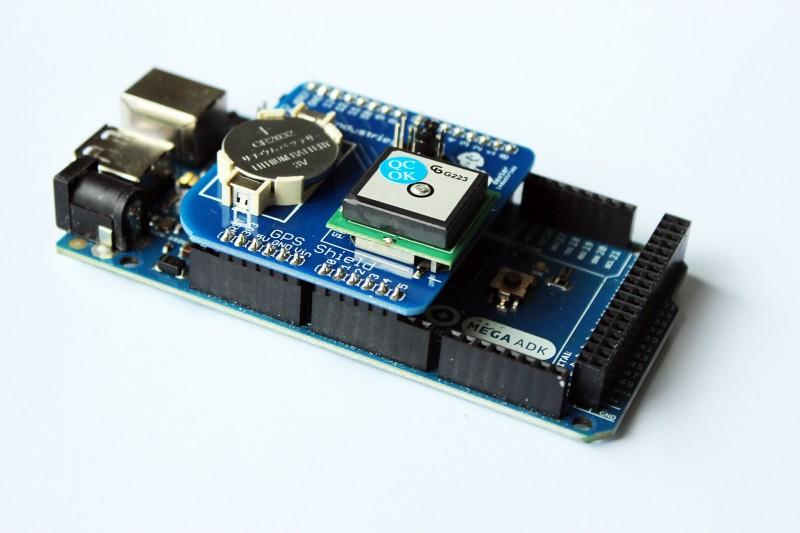 Arduino GPS Shield-on Mega Arduino