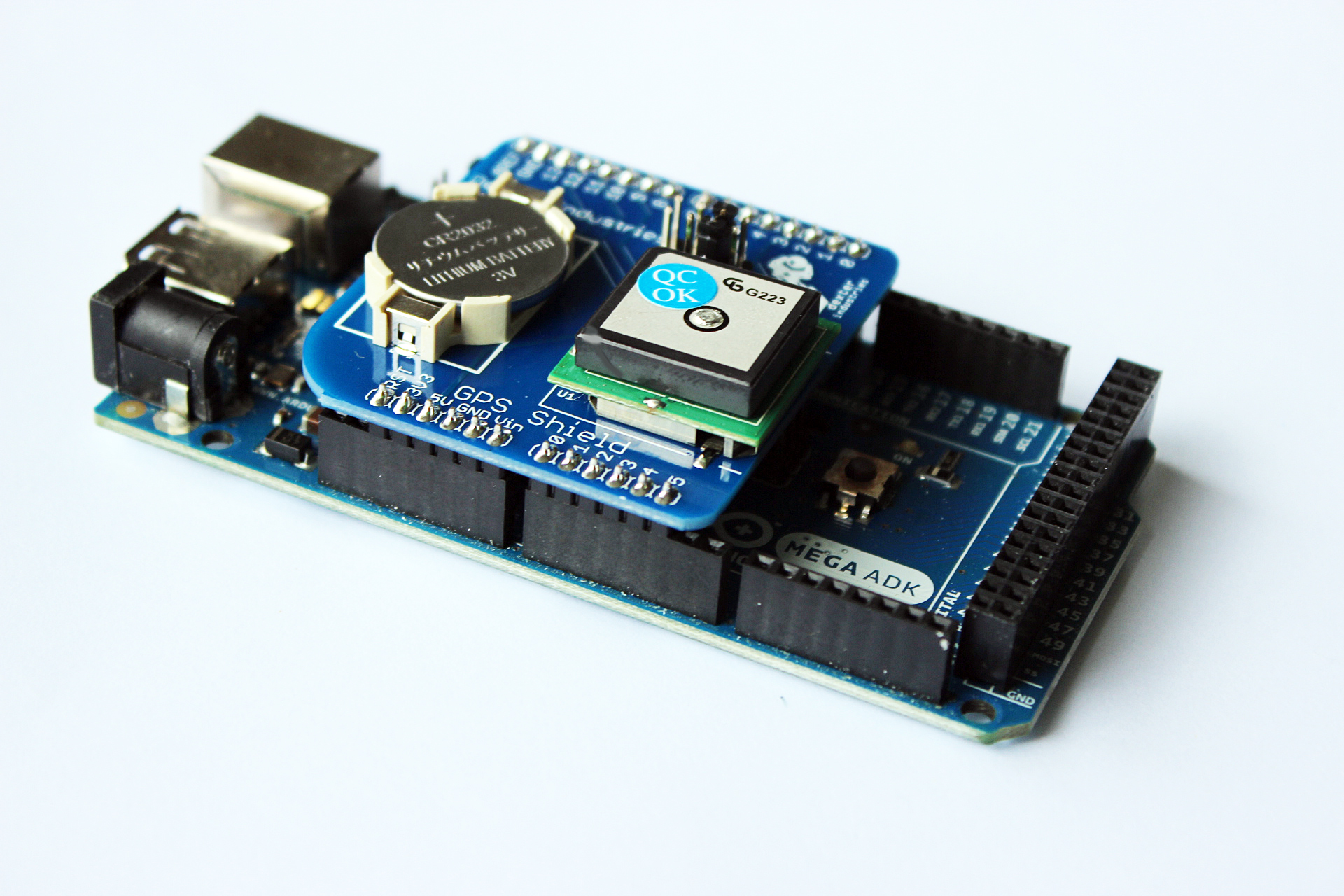 Gps shield for arduino by dexter industries