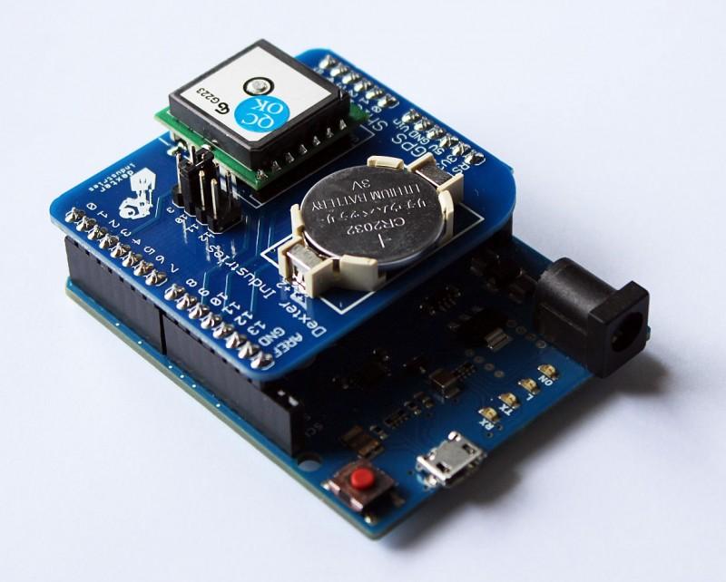 Arduino GPS Shield on the Arduino Leonardo.