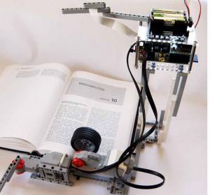 The Brickpi Bookreader robot reads real paper books