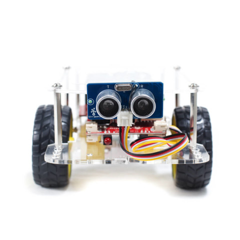 GoPiGo with Ultrasonic Sensor attached