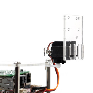 Servo closeup assembled on GoPiGo