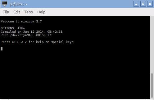 Arduberry and Raspberry Pi minicom at 9600