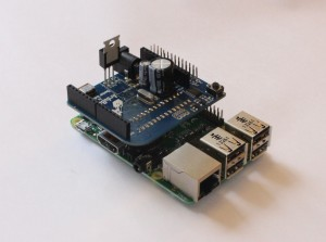 ARduberry and the Raspberry Pi from the Side