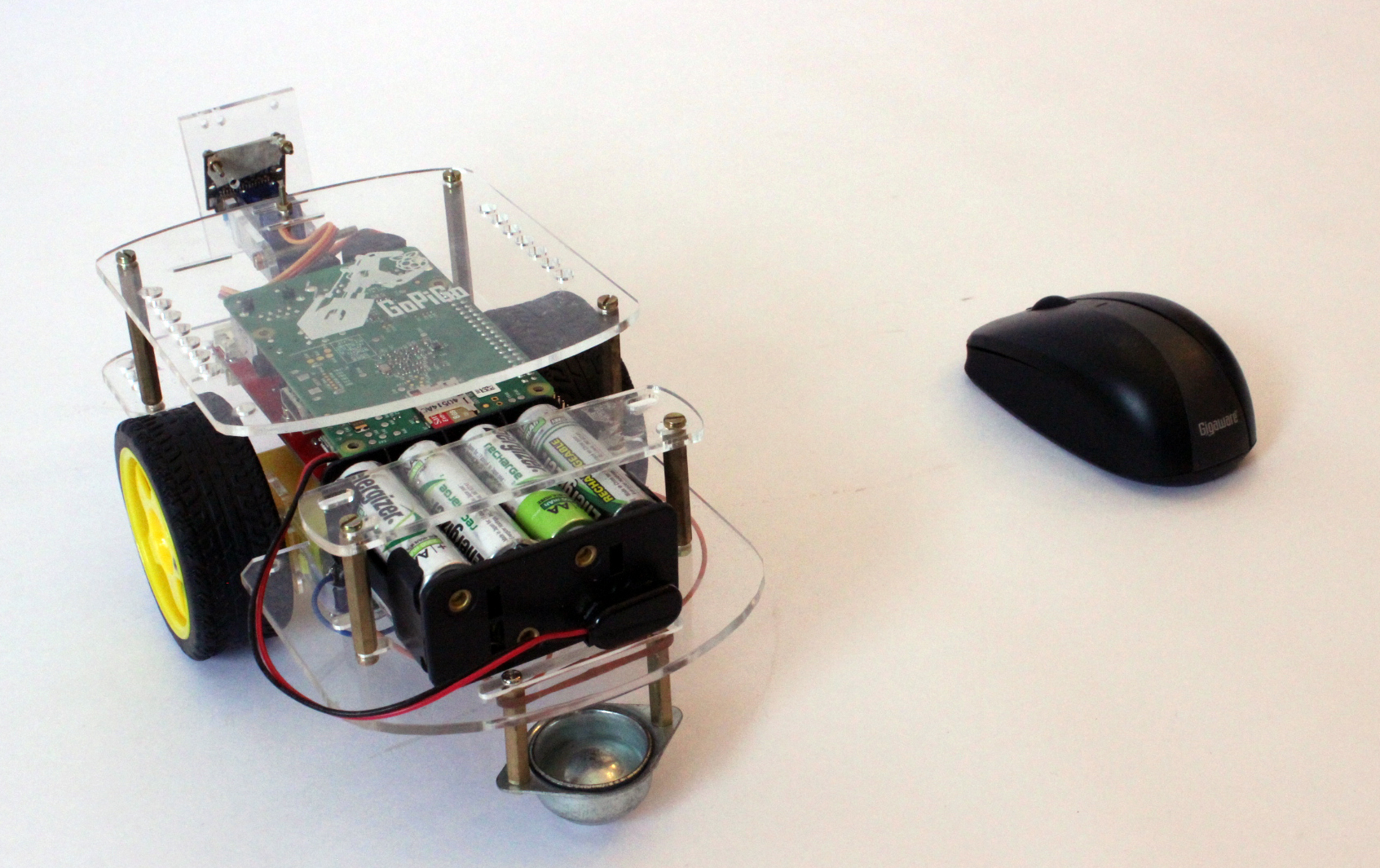 Mouse control of the Raspberry Pi Robot