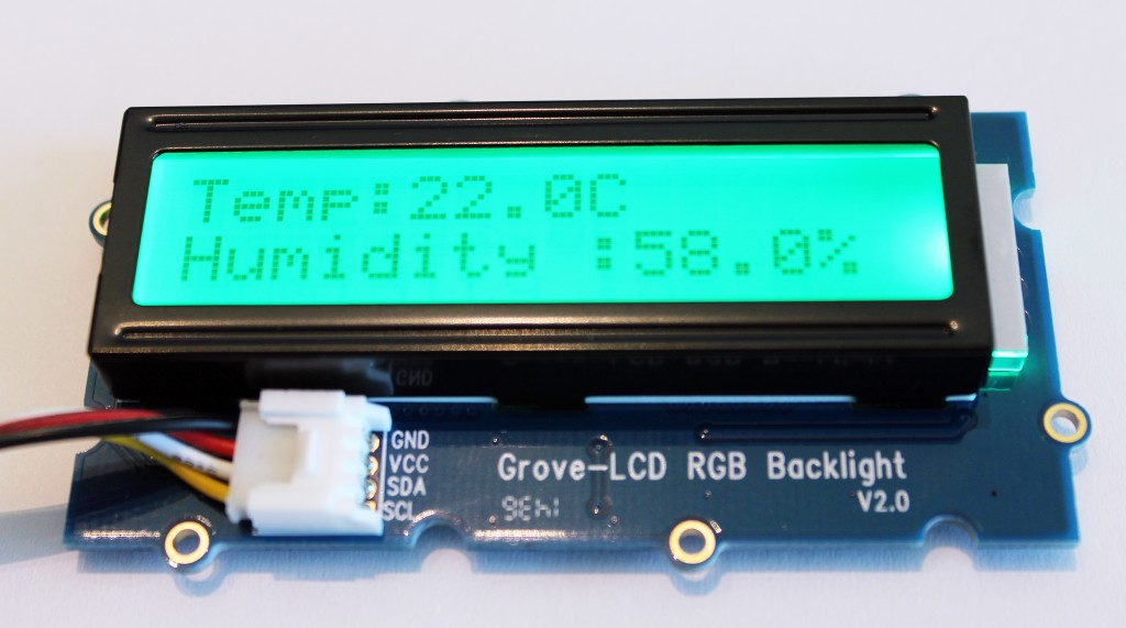 GrovePi Home Weather Station LCD