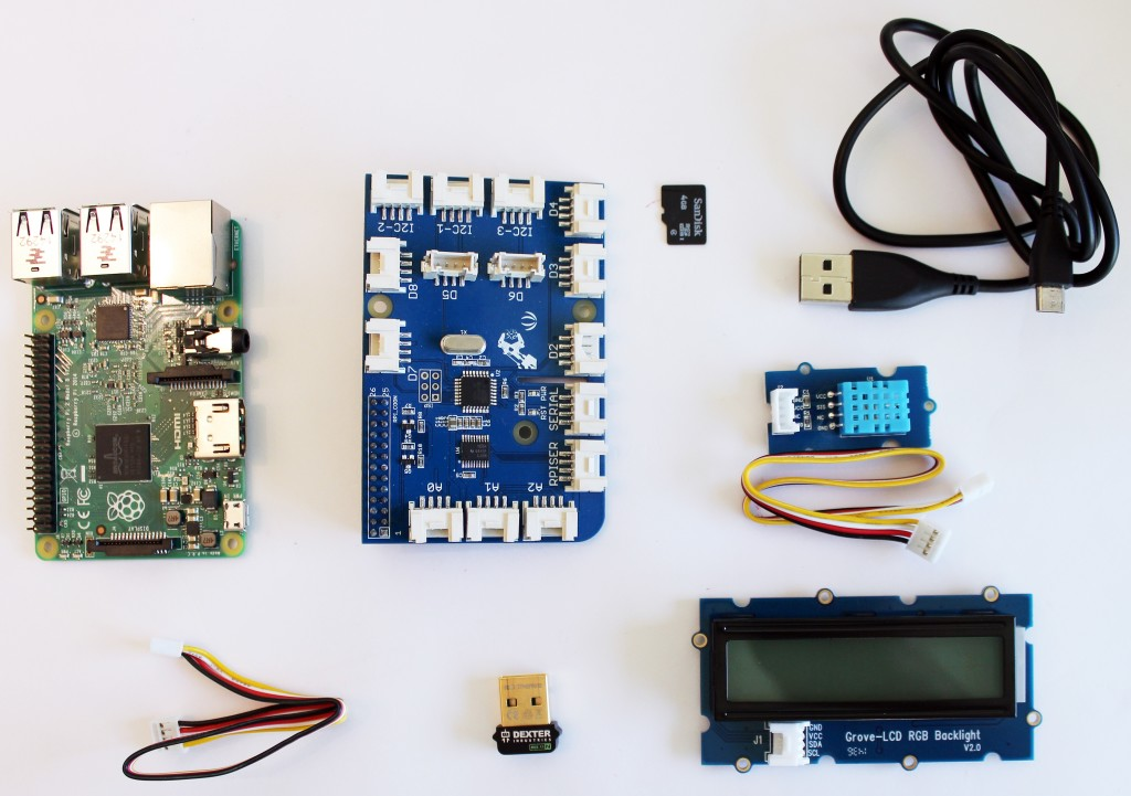 GrovePi Home Weather Station parts