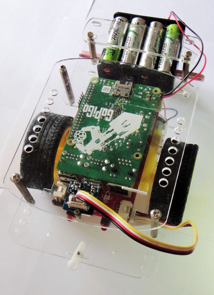 Compass guided bot with compass module