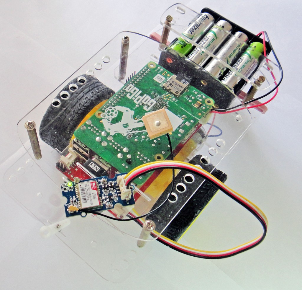 Gps bot using the GoPiGo