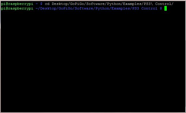 Open the PS3 controller example folder