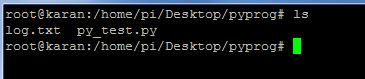 Program run and log created