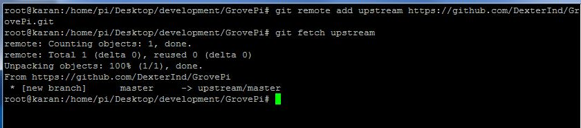 Fetch changes from the main repository