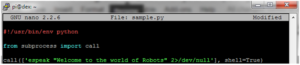 Sample Program Run a Program On Your Raspberry Pi At Startup