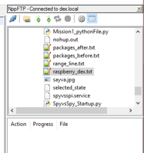 Raspberry Pi Notepad++ notepad-select-a-file