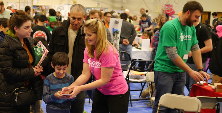 John & Taryn learning from customers at the 2015 NOVA Mini Maker Faire.
