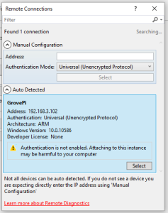 Find-GrovePi-Remote-Machine