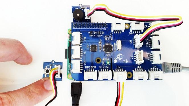 GrovePi-button-buzzer-setup-hardware