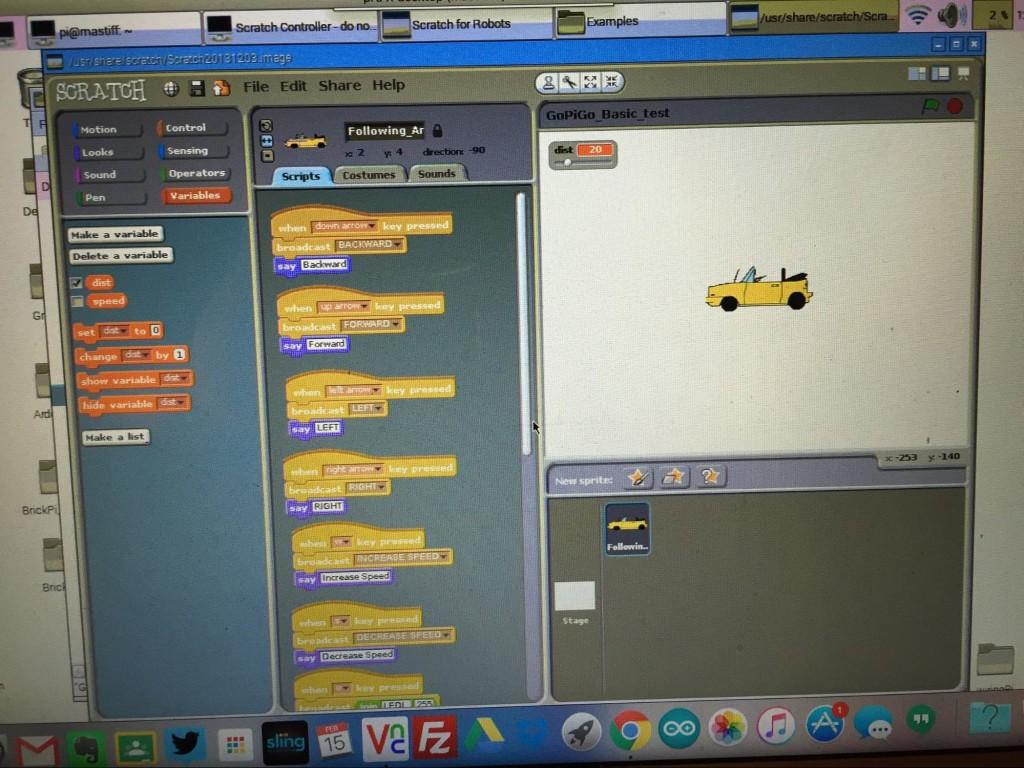 Scratch on the GoPiGo for the Raspberry Pi robotics.