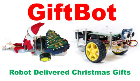 giftbot- the raspberry pi robot that delivers Christmas Gifts.