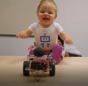 Happy baby with google cloud vision Baby and Robot That Reads Emotions