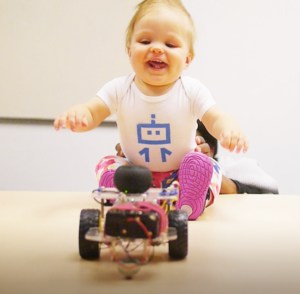 Robot That Reads Emotions trying to read a baby's emotions