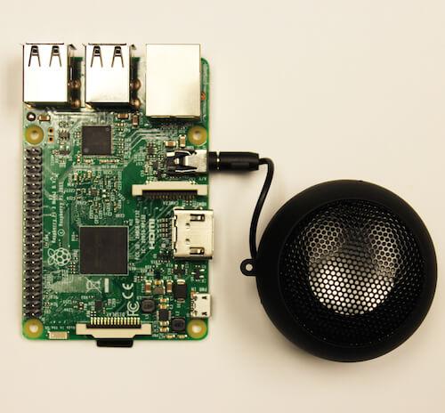esempio di connessione cassa audio con Raspberry
