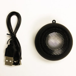 To make the Raspberry Pi Speak you need the speaker-speaker_and_usb_cable