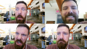 Testing emotional robots on Google Cloud Vision