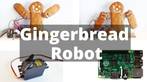 template-gingerbread-man using servos and the Raspberry Pi