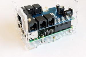 Attach the BrickPi3 board to the Raspberry Pi.